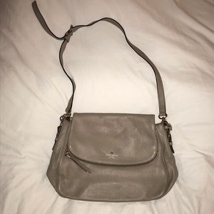 Used Kate Spade Leather Grey Purse